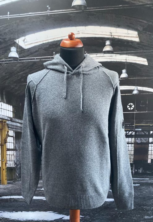 C.P. Company lambswool hooded knit