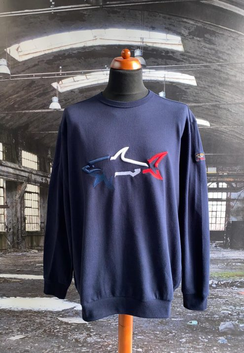 PAUL & SHARK TRICOLOUR BIG SHARK SWEATSHIRT
