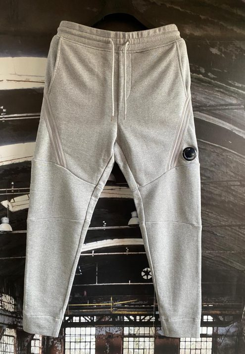 C.P. COMPANY DIAGONAL RAISED TAPERED LENS POCKET SWEATPANTS