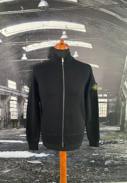 STONE ISLAND FULL ZIP WOOL SWEATSHIRT
