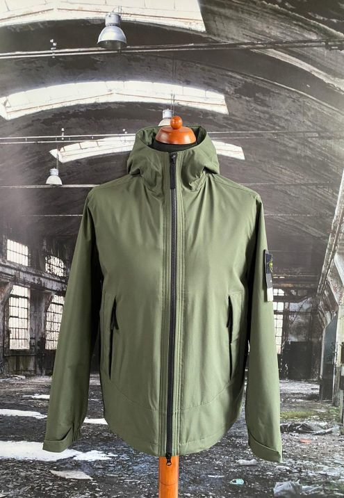 STONE ISLAND SOFT SHELL-R WITH PRIMALOFT INSULATION HOODED JACKET