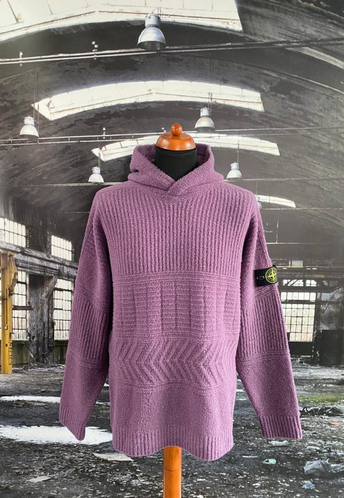 STONE ISLAND LANA WOOL HOODED KNIT