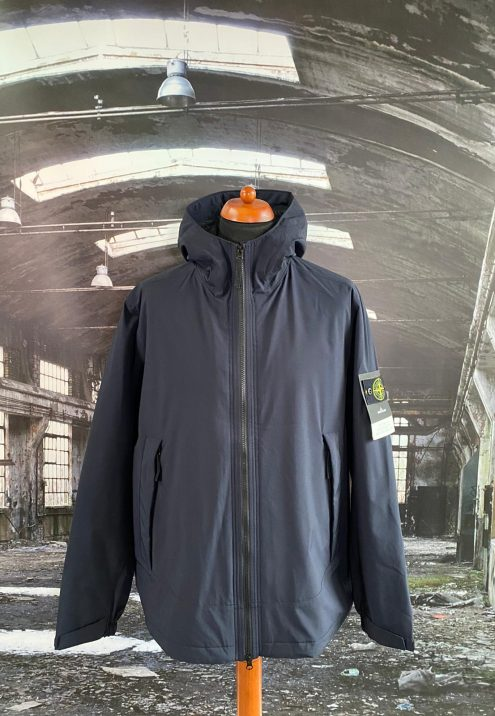 STONE ISLAND SOFT SHELL R WITH PRIMALOFT INSULATION HOODED JACKET