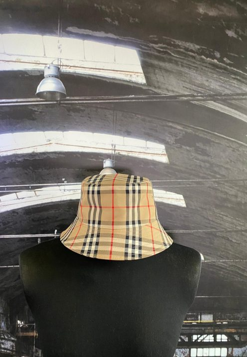 BURBURRY VINTAGE CHECK COTTON BLEND BUCKET HAT
