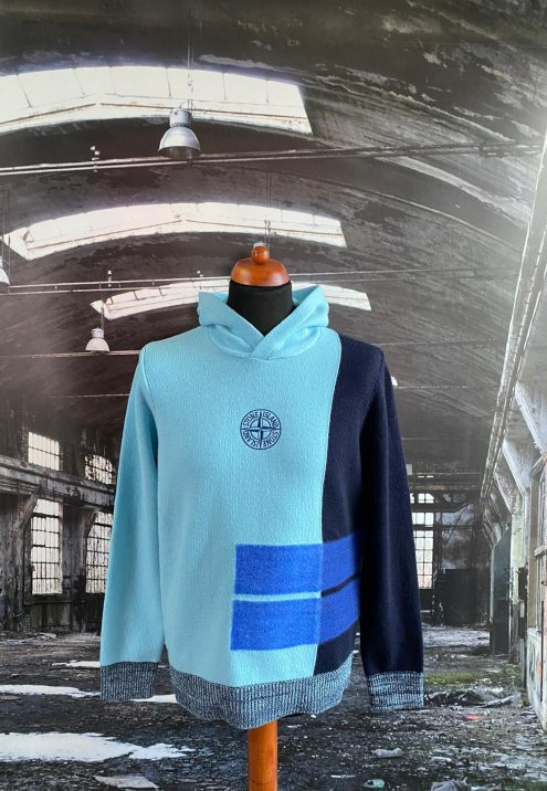 STONE ISLAND COMPASS HOODED SWEATSHIRT