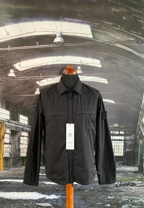STONE ISLAND GHOST PIECE_STRETCH COTTON TELA RESIN TREATED NYLON OVERSHIRT