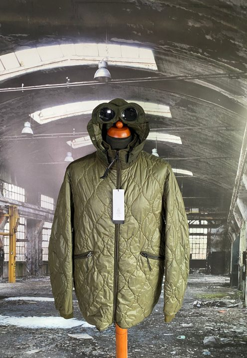 C.P. COMPANY NYLON QUILTED SPECIAL DYED GOGGLE JACKET